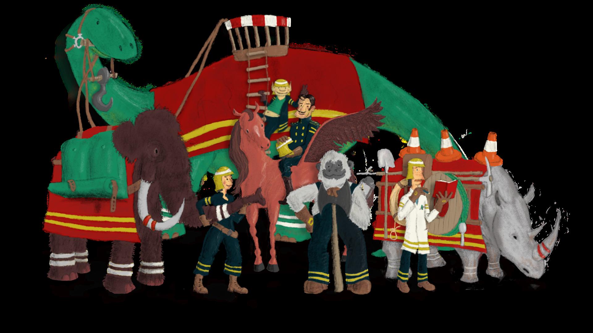 Feuerwache Märchenreich die Mannschaft